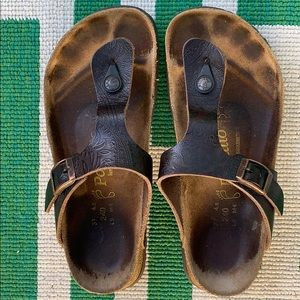 Papillo Birkenstock Gizeh Leather Sandals